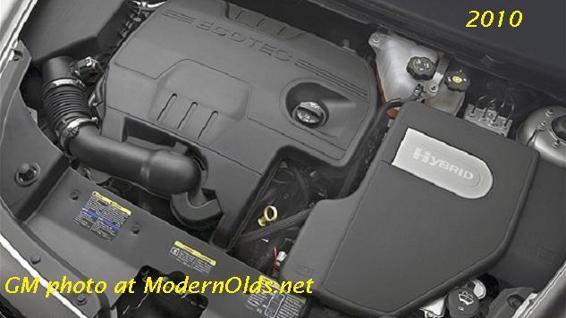 2010 Chevy Malibu Hybrid engine bay
