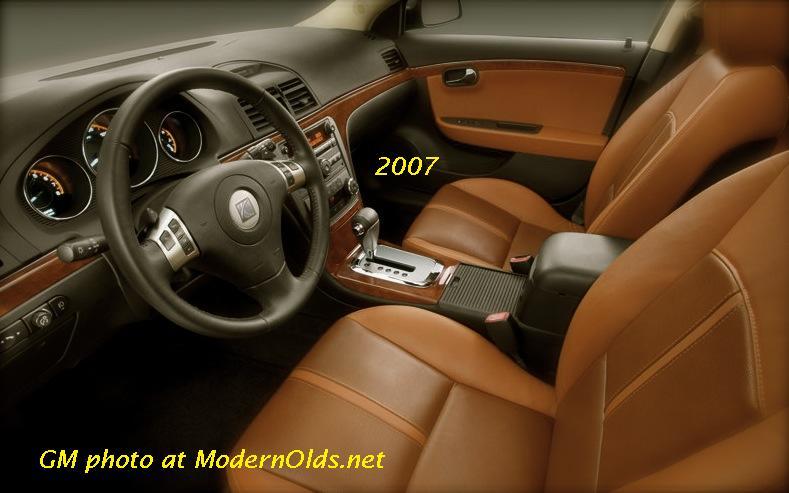 2007 Saturn Aura - (interior) steering wheel  (Car) audio controls